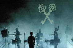 Woodkid in concert. Those keys are so cool!