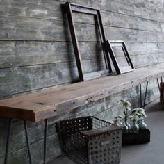 I would like a Reclaimed wood table like tis in my entry.