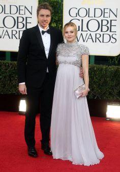 Mom-to-be Kristen Bell at the Golden Globe Awards.