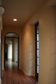 Straw Bale Home-hallway by Straw Bale, via Flickr