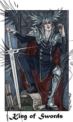 Tarot - King of Swords The Suit of Swords is done! (Finally, yaaaay…) Three more Suits and Major Arcana ahead.