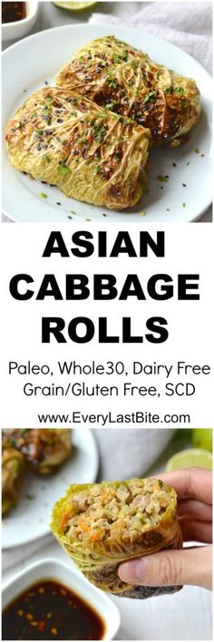 Ideas For Appetizers Asian Cabbages Paleo Whole 30, Whole 30 Recipes, Pork Recipes, Paleo Recipes, Cooking Recipes, Free Recipes, Paleo Meals, Paleo Cabbage Recipes, Healthy Asian Recipes