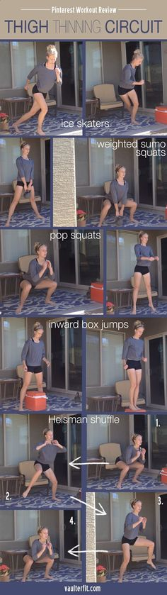 Thigh Thinning Circuit Workout pinterest: @flyingkyara ☾