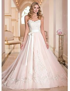 A-line Sweetheart Court Train Wedding Dress (Tulle). Grab unbeatable discounts up to 70% Off at Light in the box using Coupons.