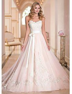 Svatební šaty Heart Trapeze Tail Court (Tule)