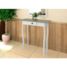 Shabby Chic French Country Farmhouse Hall Way Retro Console Table Wood Desk