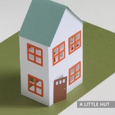 Mini Dollhouse Printable Templates comes with 2 Beds. Can't wait to make one. And then maybe a whole little neighbourhood!! Fellow Torontonians, you can get the little wooden people to paint at The Paper Place in Trinity Bellwoods. --Piper