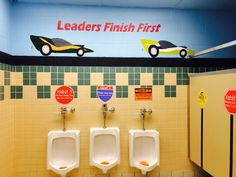 Leader In Me 7 Habits- Bonnieville Elementary-Kentucky Teachers and volunteers are working hard to create a fun and inviting leader atmosphere for the students and staff beginning with the bathrooms.