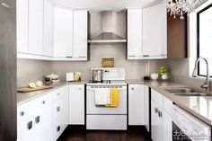 cream counters white cabinets