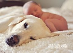 baby and dog - Click image to find more Mens Fashion Pinterest pins