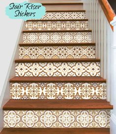 15steps Stair Riser Vinyl Strips Removable Sticker Peel & Stick : Barcelona Bmix3Br by SnazzyDecal on Etsy https://www.etsy.com/listing/277402840/15steps-stair-riser-vinyl-strips