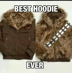 Star Wars Jacket- Turns You Into Chewbacca.okay the nerd in me is coming out. Star Wars Film, Star Trek, Star Wars Love, Starwars, Casual Cosplay, Amour Star Wars, Costume Star Wars, Geek House, Mode Geek