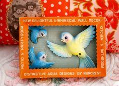 Vintage Lefton / Norcrest bluebirds japan collection Vintage Birds, Vintage Love, Vintage Walls, Vintage Images, Vintage Tupperware, Vintage Kitchenware, Ceramic Animals, Retro Toys, Wall Pockets