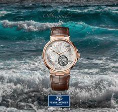 #TiempoPeyrelongue  BREGUET La Marine Équation Marchante. Además de sus impresionantes complicaciones, este modelo simboliza una nueva generación de relojes marinos que se distinguen por una estética moderna y dinámica. #timepiece