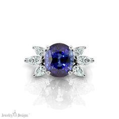 5.09 carat Sapphire set in a handmade setting