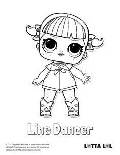 Line Dancer Coloring Page Lotta LOL
