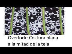 Overlock: Cómo hacer costura plana con overlock casera - YouTube