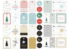 Для печати: бесплатные ярлыки на новогодние подарки | IVOREE