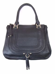 BESSO Black Leather Luxury Italian Handbag Tote « Clothing Impulse