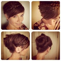 Double Braid Bun for Autumn - I must try this... My hair is long enough... I need bangs though!
