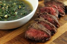 Spiced-Rubbed Hangar Steak with Chimichurri / via Aida Mollenkamp