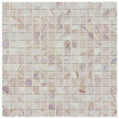 Elida Ceramica White Bronze Glass Mosaic Square Indoor/Outdoor Wall Tile (Common: 13-in x 13-in; Actual: 12.75-in x 12.75-in)