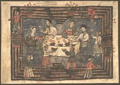 File:Codice Casanatense Portuguese Dinner in Hormuz. Paradise Lost Book, Strait Of Hormuz, Francis Xavier, 14th Century, Eastern Europe, Portuguese, Art Boards, Africa, Vintage World Maps