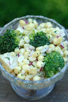 Ensalada de choclo con papas y brocoli