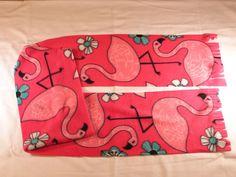 Pink Flamingos on Fuscia Flamingo Fleece Scarf Xtra Long #Handmade #Scarf