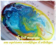 Découvrez le lait magique : une expérience simple et très jolie. Entre sciences et art visuel, pour les enfants dès 2 à 102 ans ! Tuto et explications !