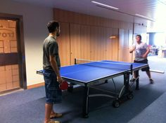 Ping-pong at work #cornilleau Who else is having fun at work??