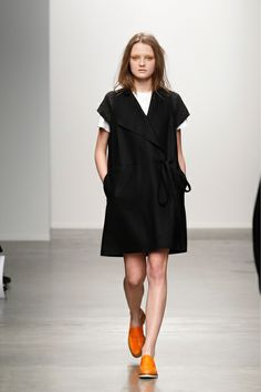 Simple and unassuming but gorgeous tunic from Karen Walker F2013 - love the shoulder detailing - via style.com