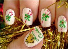 Candycane & Bells Nails