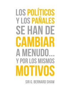 Los políticos y los pañales