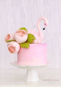 Endless cake decorating inspiration - wedding cakes, birthday cakes for boys and girls, cookies, cupcakes and more. Cute Cakes, Pretty Cakes, Beautiful Cakes, Amazing Cakes, Flamingo Cake, Flamingo Birthday, Flamingo Baby Shower, Cake Wrecks, Animal Cakes