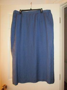 bcb8d25ac6d64 Womens Plus Size 24 W Harvé Benard Blue Career Skirt Lined Long NWT  Linen Rayon  fashion  clothing  shoes  accessories  womensclothing  skirts (ebay  link)