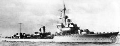 German destroyer Z24 Type 1936A-class built for the Kriegsmarine in the late 1930's.