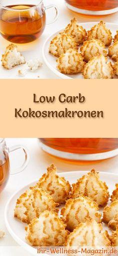 Low-Carb- Weihnachtsgebäck-Rezept für Kokosmakronen: Kohlenhydratarme, kalorienreduzierte Weihnachtskekse - ohne Getreidemehl und Zucker gebacken ... #lowcarb #backen #weihnachten