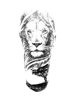 Chest Tattoo Drawings, Half Sleeve Tattoos Drawings, Full Arm Tattoos, Forearm Sleeve Tattoos, Dope Tattoos, Egyptian Tattoo Sleeve, Animal Sleeve Tattoo, Lion Tattoo Sleeves, Leo Lion Tattoos