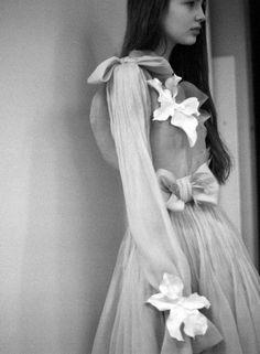 Ali Michael. Rodarte. Diaphanous gown.