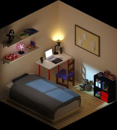 Living in isometric space on Behance