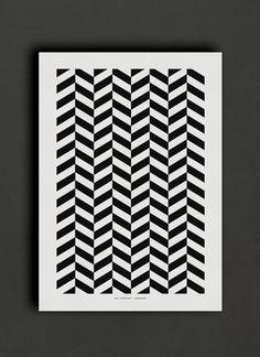 black & white geometric poster – The Wall Shop / www.thewallshop.co