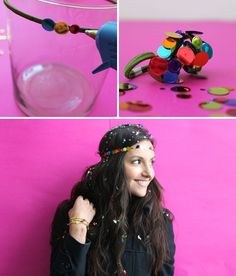 Make a confetti headband for NYE.