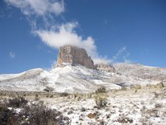 Snow on El Capitan, Texas' highest peak | 16 Beautiful Landscapes You Won't Believe Are In Texas