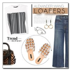 """Fall Footwear Trend: Loafers"" by court8434 ❤ liked on Polyvore featuring Alexander Wang and loafers"