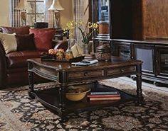 Amazon.com: Hooker Furniture Preston Ridge Square Cocktail Table in Black Rub-Through & Cherry: Kitchen & Dining