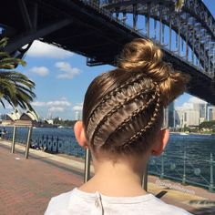 """Thanks Sydney for bringing out the gorgeous Sun for us. ☀️ Lace Dutch cornrows into a bow bun. "" Photo taken by @prettylittlebraids on Instagram, pinned via the InstaPin iOS App! http://www.instapinapp.com (08/15/2015)"