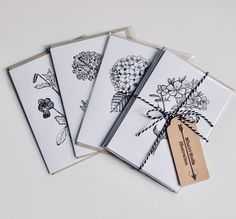 Excited to share the latest addition to my #etsy shop: Botanical greeting cards, Hydrangea art, Floral illustration, Viola design card, greeting card set, with four designs https://etsy.me/2IDAyLE #papergoods #cards #black #white #naturecards #wildflower #floralartcard