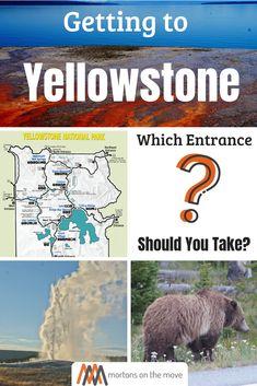 here are 5 entrances to Yellowstone National Park: North Entrance – thru Gardiner, Montana. Yellowstone Vacation, Yellowstone National Park, Wyoming Vacation, Travel Usa, Alaska Travel, Alaska Cruise, Cody Wyoming, Cross Country Trip, Viewing Wildlife