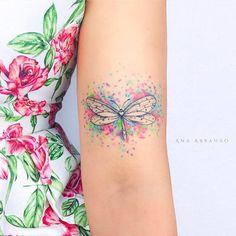 Origami Butterfly Tattoo Tatoo 53 Ideas For 2019 Girly Tattoos, Floral Back Tattoos, Disney Tattoos, Body Art Tattoos, New Tattoos, Sleeve Tattoos, Skull Tattoos, Latest Tattoos, Heart Tattoos